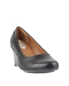 Caleste Plain In Black Leather