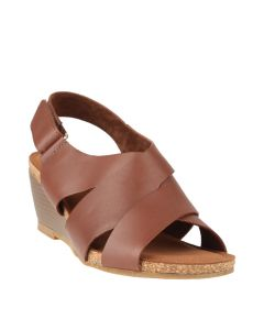 Arthemis Slingback In Brown Leather