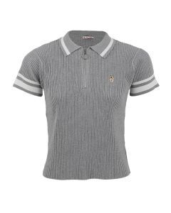 Ezra - Polo Shirt In Grey