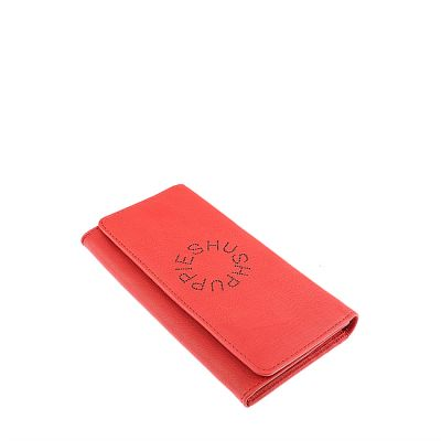 Perfy Long Flap Purse In Red