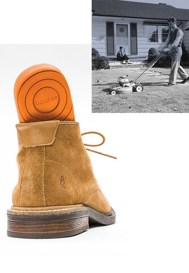 Bounce technology shown through shoe insert.